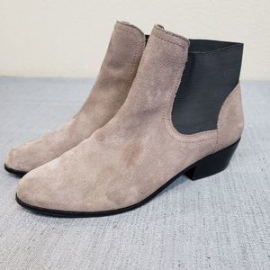 Steven By Steve Madden 8.5 Taupe Suede Booties